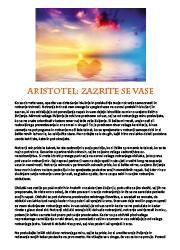 Meditacija, Aristotel