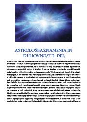 Meditacija, Astrološka znamenja in duhovnost 2. del,