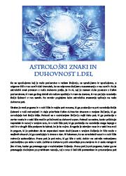 Meditacija, Astrološki znake in duhovnost 1. del,