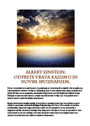 Meditacija, Albert Einstein,