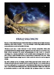 Meditacija, Kralj Salomon,