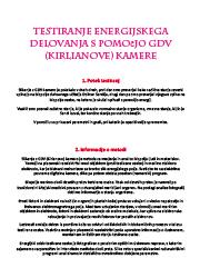 Meditacija, Testiranje energijskega  delovanja s pomočjo GDV,